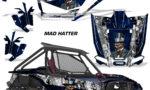 Honda 2019 Talon 1000X AMR Graphic Kit Vinyl Decal Deco Madhatter BlueSilverStripe 150x90 - Honda Talon 1000X 2019 2 Door UTV Graphics