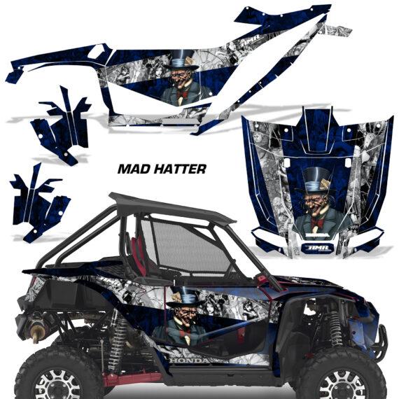 Honda 2019 Talon 1000X AMR Graphic Kit Vinyl Decal Deco Madhatter BlueSilverStripe 570x570 - Honda Talon 1000X 2019 2 Door UTV Graphics