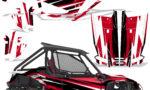 Honda 2019 Talon 1000X Graphic Kit Vinyl Decal Deco Attack Red 150x90 - Honda Talon 1000X 2019 2 Door UTV Graphics