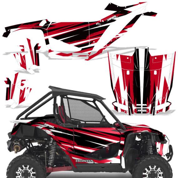 Honda 2019 Talon 1000X Graphic Kit Vinyl Decal Deco Attack Red 570x570 - Honda Talon 1000X 2019 2 Door UTV Graphics