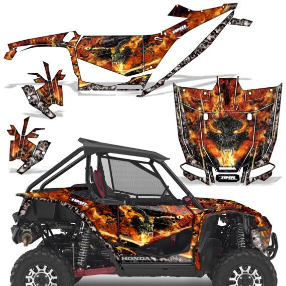 Honda 2019 Talon 1000X Graphic Kit Vinyl Decal Deco Firestorm Black 570x570 - Honda Talon 1000X 2019 2 Door UTV Graphics
