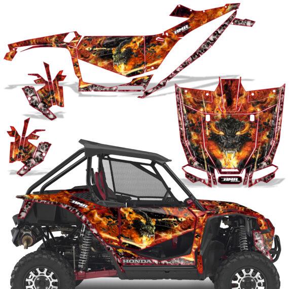 Honda 2019 Talon 1000X Graphic Kit Vinyl Decal Deco Firestorm Red 570x570 - Honda Talon 1000X 2019 2 Door UTV Graphics