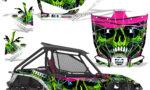Honda 2019 Talon 1000X Graphic Kit Vinyl Decal Deco Frenzy Green 150x90 - Honda Talon 1000X 2019 2 Door UTV Graphics
