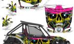 Honda 2019 Talon 1000X Graphic Kit Vinyl Decal Deco Frenzy Yellow 150x90 - Honda Talon 1000X 2019 2 Door UTV Graphics