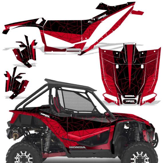 Honda 2019 Talon 1000X Graphic Kit Vinyl Decal Deco Geometrik Red BlackBG 570x570 - Honda Talon 1000X 2019 2 Door UTV Graphics