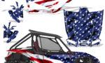Honda 2019 Talon 1000X Graphic Kit Vinyl Decal Deco Stars Stripes 150x90 - Honda Talon 1000X 2019 2 Door UTV Graphics