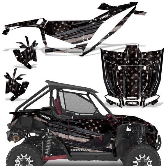 Honda 2019 Talon 1000X Graphic Kit Vinyl Decal Deco Subdued V2 570x570 - Honda Talon 1000X 2019 2 Door UTV Graphics