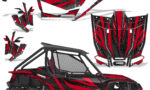 Honda 2019 Talon 1000X Graphic Kit Vinyl Decal Deco Zooted Red BlackBG 150x90 - Honda Talon 1000X 2019 2 Door UTV Graphics