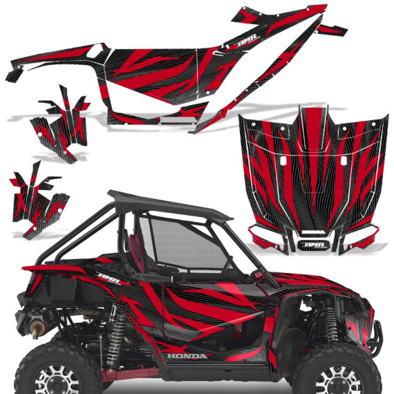 Honda 2019 Talon 1000X Graphic Kit Vinyl Decal Deco Zooted Red BlackBG 570x570 - Honda Talon 1000X 2019 2 Door UTV Graphics